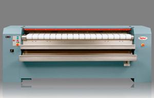 Сушильно-гладильные машины с нагреваемой мульдой, с автоматической подачей продольным и поперечным складывателем и штабелёром,  UniMac UFFSГладильные катки мульдового типа серии UFFS800